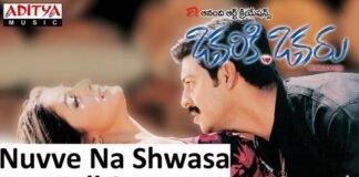 Nuvve Na Shwasa Song Lyrics