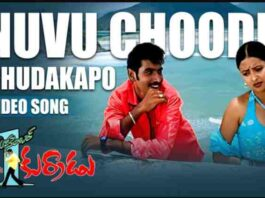 Nuvu Choodu Chudakapo Song Lyrics